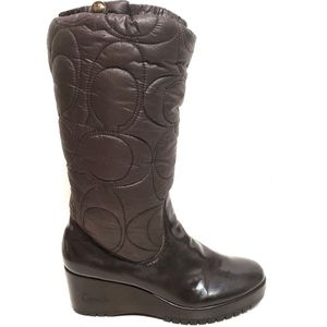Coach | Cantina quilted puffer wedge boots